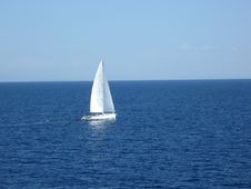 Free Lonely Boat On The Sea Stock Images - 20426554
