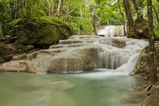 Free Erawan Waterfall Royalty Free Stock Image - 20427006