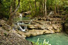 Free Erawan Waterfall Royalty Free Stock Image - 20427026
