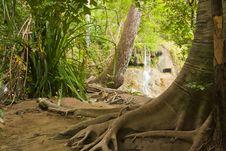 Free Erawan Waterfall Royalty Free Stock Photos - 20427038