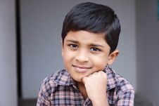 Free Indian Cute Little Boy Royalty Free Stock Photography - 20427277