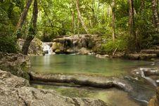Free Erawan Waterfall Royalty Free Stock Photography - 20427457