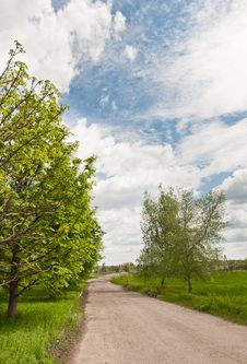 Road In A Ukrainian Village Royalty Free Stock Photography