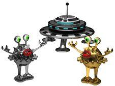 Free Fun Space Aliens Stock Photo - 20428540