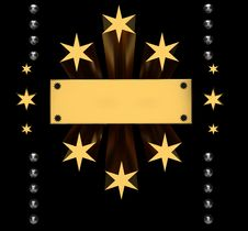 Free Background With Gold Stars Stock Photography - 20428542