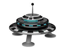 Free UFO On White Background Stock Images - 20428544