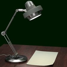 Free Metalic Gray Table Lamp Royalty Free Stock Images - 20428549