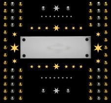 Free Dark Background With Silver Stars Stock Photo - 20428570