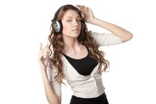 Listening To The Music Stock Photography