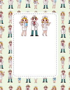 Free Cartoon Doctor And Nurse Speech Card Stock Photos - 20428783