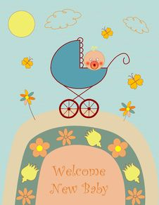 Free Welcome New Baby Boy Stock Images - 20428864