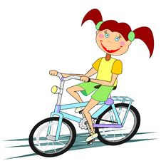 Free Girl Riding Bicycle Stock Photo - 20429010
