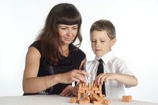Free Mom Playing With Son Stock Images - 20429264