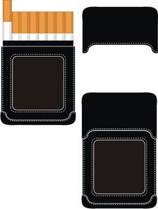 Free Black Leather Cigarette Case Stock Images - 20429694