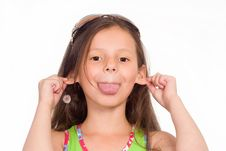 Free Little Girl In Green Royalty Free Stock Photo - 20429755