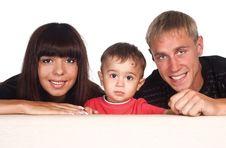 Free Family Of A Three At Sofa Royalty Free Stock Photography - 20429947