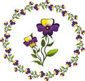 Free Decor With Pansies Stock Photos - 20435673