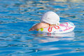 Free Baby In Inflatable Tube Is Swimming In Pool Royalty Free Stock Photo - 20435785