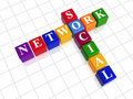 Free Social Network - Colour Crossword Royalty Free Stock Image - 20435976