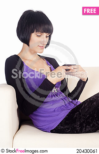 Free Girl With Phone Stock Image - 20430061