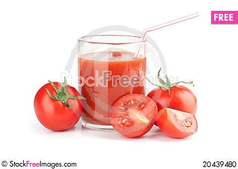 Free Glass Of Fresh Tomato Juice Stock Photo - 20439480