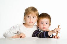 Free Kids At Table Stock Photo - 20430010