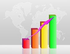 Free Colorful Business Bar Chart Illustration Stock Photos - 20430203