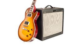 Free Guitar And Amplifier Stock Photos - 20430533