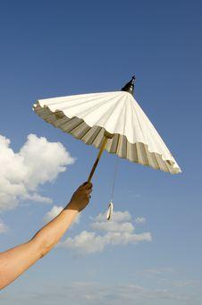 Free Woman Hand Holding Umbrella Royalty Free Stock Photo - 20430725