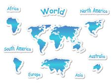 Free World Map Icons Royalty Free Stock Images - 20430789