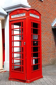 Free Traditional Red Telephone Box Royalty Free Stock Photo - 20430805