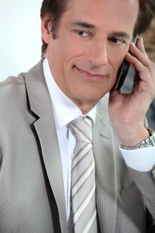 Free Executive On Cellphone Royalty Free Stock Photography - 20430857