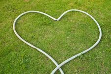 Free Green Grass Texture Background With Heart. Stock Photo - 20431330