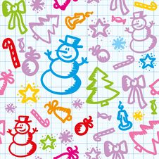 Free Christmas Pattern Stock Images - 20431394