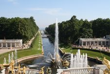 Fountains At Summer Palace Royalty Free Stock Images
