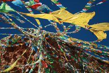 Free Tibetan Prayer Flags Royalty Free Stock Photo - 20431655