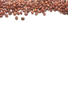 Free Brown Coffee Beans On The White Background Stock Photo - 20431930