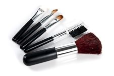 Free Cosmetic Brushes Royalty Free Stock Photos - 20432088