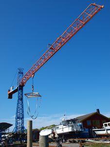 Free Boat Lifting Crane Stock Images - 20432354