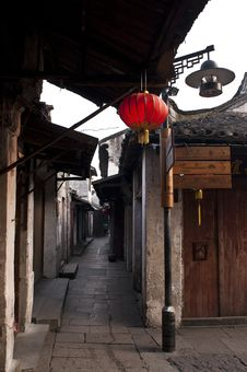 An Ancient Street In Zhouzhuang Stock Photos