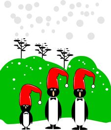 Merry Christmas Pequins Stock Image