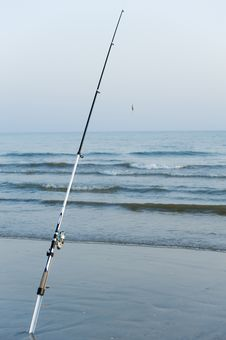 Free Fishing Poles In The Ocean Royalty Free Stock Image - 20432796