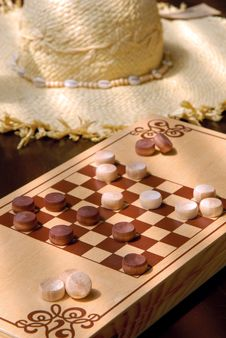 Free The Wooden Checkers Royalty Free Stock Photography - 20432887