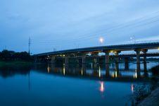 Free Thai River Crossing Bridge Stock Image - 20433831