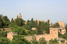 Free Fortress Alhambra Royalty Free Stock Image - 20434536