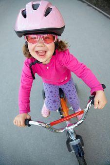 Little Cyclist Stock Photo
