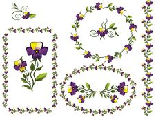 Free Decor With Pansies Royalty Free Stock Photo - 20435715