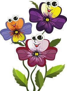 Free Tree Pansies Royalty Free Stock Image - 20435726