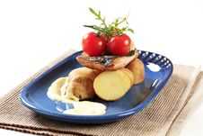 Free Pan Fried Trout And Potatoes Stock Photo - 20437100