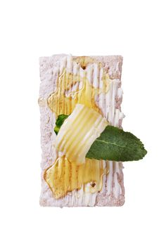 Crispbread And Honey Royalty Free Stock Image